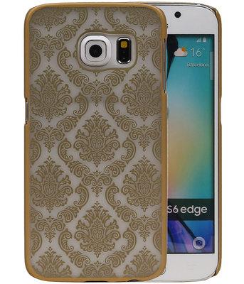 Hoesje voor Samsung Galaxy S6 Edge - Brocant Hardcase Goud