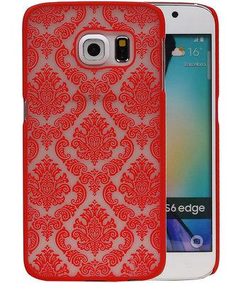 Hoesje voor Samsung Galaxy S6 Edge - Brocant Hardcase Rood