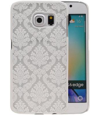 Hoesje voor Samsung Galaxy S6 Edge - Brocant Hardcase Wit