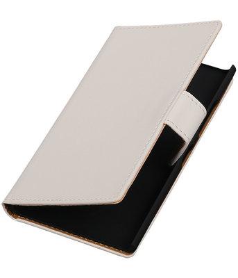 Hoesje voor Nokia Lumia 735 Effen Booktype Wallet Wit