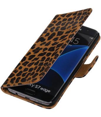 Luipaard Booktype Hoesje voor Samsung Galaxy S7 Edge Wallet Cover