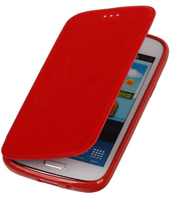 Polar Map Case Rood Hoesje voor Samsung Galaxy S4 mini TPU Bookcover