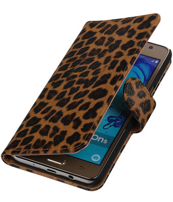 Hoesje voor Samsung Galaxy On5 - Luipaard Booktype Wallet