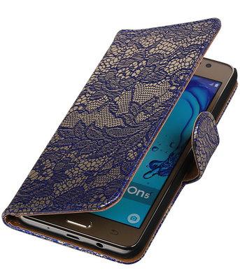 Hoesje voor Samsung Galaxy On5 - Lace Blauw Booktype Wallet