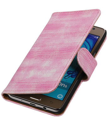 Hoesje voor Samsung Galaxy On5 - Mini Slang Roze Booktype Wallet