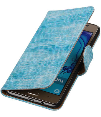 Hoesje voor Samsung Galaxy On5 - Mini Slang Turquoise Booktype Wallet