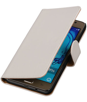 Hoesje voor Samsung Galaxy On5 - Effen Wit Booktype Wallet