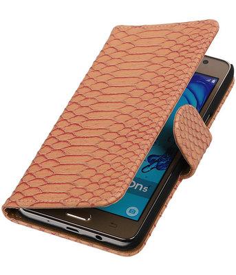 Hoesje voor Samsung Galaxy On5 - Slang Roze Booktype Wallet