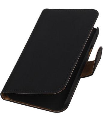 Zwart Effen Booktype Hoesje voor Samsung Galaxy Xcover 2 S7710 Wallet Cover