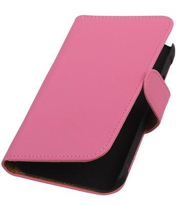Roze Effen Booktype Hoesje voor Samsung Galaxy Xcover 2 S7710 Wallet Cover