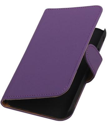 Paars Effen Booktype Hoesje voor Samsung Galaxy Xcover 2 S7710 Wallet Cover