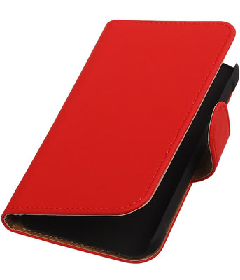 Rood Effen Booktype Samsung Galaxy Xcover 2 S7710 Wallet Cover Hoesje