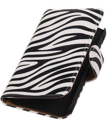 Zebra Booktype Hoesje voor Samsung Galaxy Xcover 2 S7710 Wallet Cover