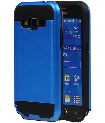 Blauw Bestcases Tough Armor TPU Back Cover Hoesje voor Samsung Galaxy Core Prime