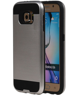 Zilver BestCases Tough Armor TPU back cover hoesje voor Samsung Galaxy S6