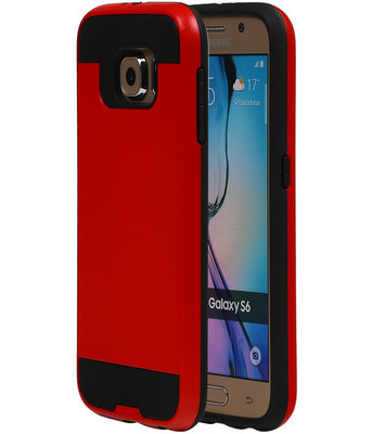 Rood BestCases Tough Armor TPU back cover hoesje voor Samsung Galaxy S6