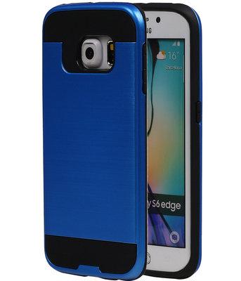 Blauw BestCases Tough Armor TPU back cover voor Hoesje voor Samsung Galaxy S6 Edge
