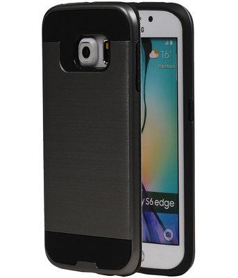 Grijs BestCases Tough Armor TPU back cover voor Hoesje voor Samsung Galaxy S6 Edge