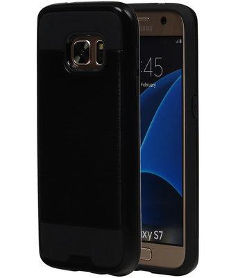 Zwart BestCases Tough Armor TPU back cover voor Hoesje voor Samsung Galaxy S7