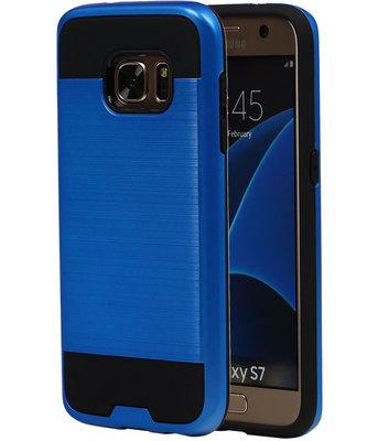 Blauw BestCases Tough Armor TPU back cover voor Hoesje voor Samsung Galaxy S7