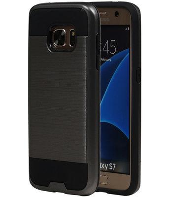 Grijs BestCases Tough Armor TPU back cover voor Hoesje voor Samsung Galaxy S7