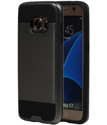Grijs BestCases Tough Armor TPU back cover hoesje voor Samsung Galaxy S7