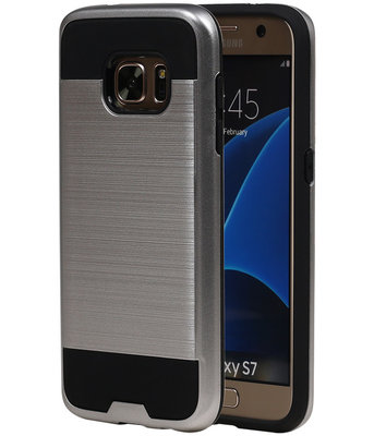 Zilver BestCases Tough Armor TPU back cover hoesje voor Samsung Galaxy S7