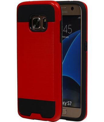 Rood BestCases Tough Armor TPU back cover voor Hoesje voor Samsung Galaxy S7