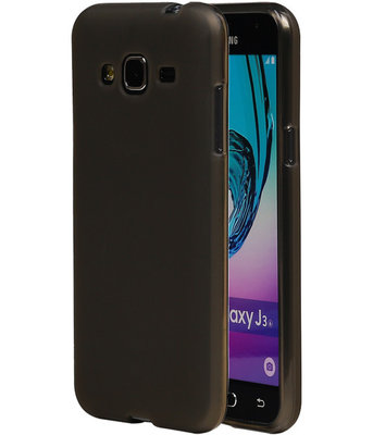 Hoesje voor Samsung Galaxy J3 TPU Transparant Grijs