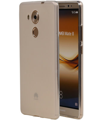 Hoesje voor Huawei Ascend Mate 8 TPU Transparant Wit