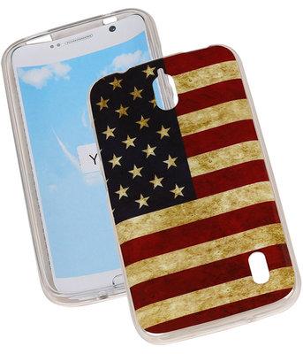 Amerikaanse Vlag TPU Cover Case voor Hoesje voor Huawei Y625