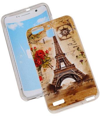 Eiffeltoren TPU Cover Case voor Hoesje voor Huawei Y625