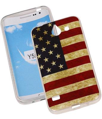 Amerikaanse Vlag TPU Cover Case voor Hoesje voor Huawei Y550