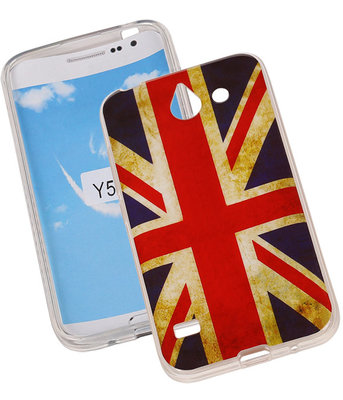 Britse Vlag TPU Cover Case voor Hoesje voor Huawei Y550