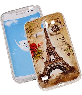 Eiffeltoren TPU Cover Case voor Hoesje voor Huawei Y550