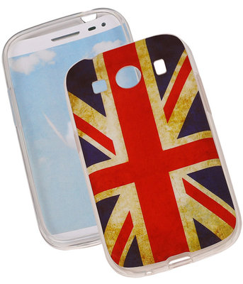 Britse Vlag TPU Cover Case voor Hoesje voor Samsung Galaxy Ace Style G357