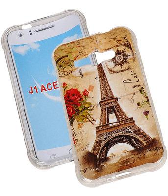 Eiffeltoren TPU Cover Case voor Hoesje voor Samsung Galaxy J1 Ace