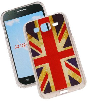 Britse Vlag TPU Cover Case voor Hoesje voor Samsung Galaxy J2 2015