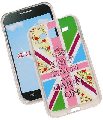 Keizerskroon TPU Cover Case voor Hoesje voor Samsung Galaxy J2 2015