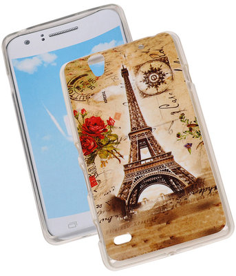 Eiffeltoren TPU Cover Case voor Hoesje voor Sony Xperia C4