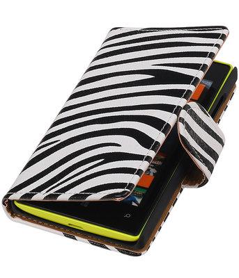 Zebra booktype cover voor Hoesje voor Microsoft Lumia 532