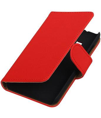 Rood Effen booktype cover voor Hoesje voor Samsung Z1 Z130
