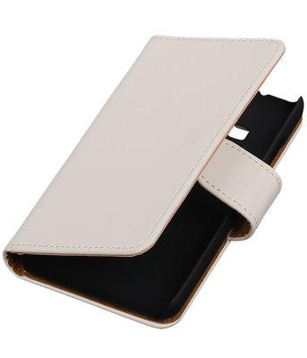 Wit Effen booktype cover voor Hoesje voor Samsung Z1 Z130