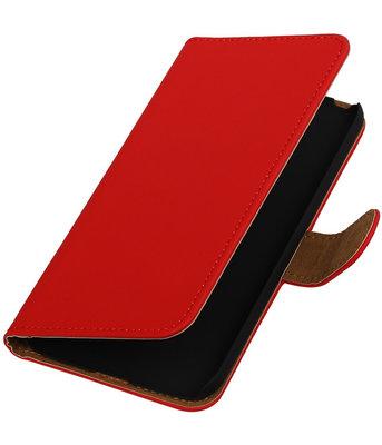 Rood Effen booktype cover voor Hoesje voor LG G5