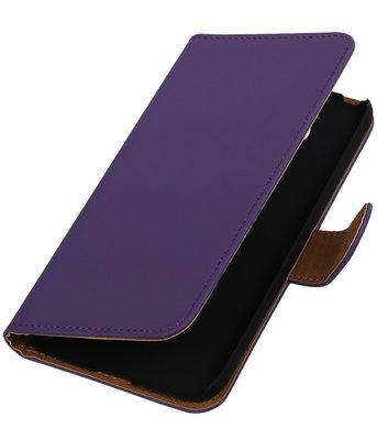 Paars Effen booktype cover voor Hoesje voor LG G5