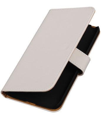 Wit Effen booktype cover voor Hoesje voor LG G5