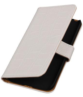 Wit Krokodil booktype cover voor Hoesje voor LG G5