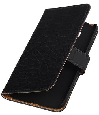 Zwart Krokodil booktype cover voor Hoesje voor LG G5