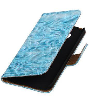 Turquoise Mini Slang booktype cover voor Hoesje voor LG G5