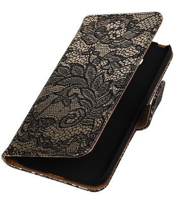 Zwart Lace booktype cover voor Hoesje voor LG G5